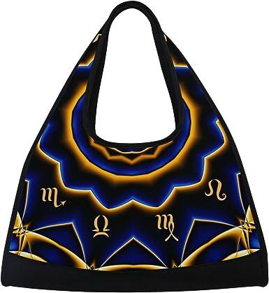 AHOMY Sports Gym Bag India Mandala Constellation Duffel Bag Travel Shoulder Bag