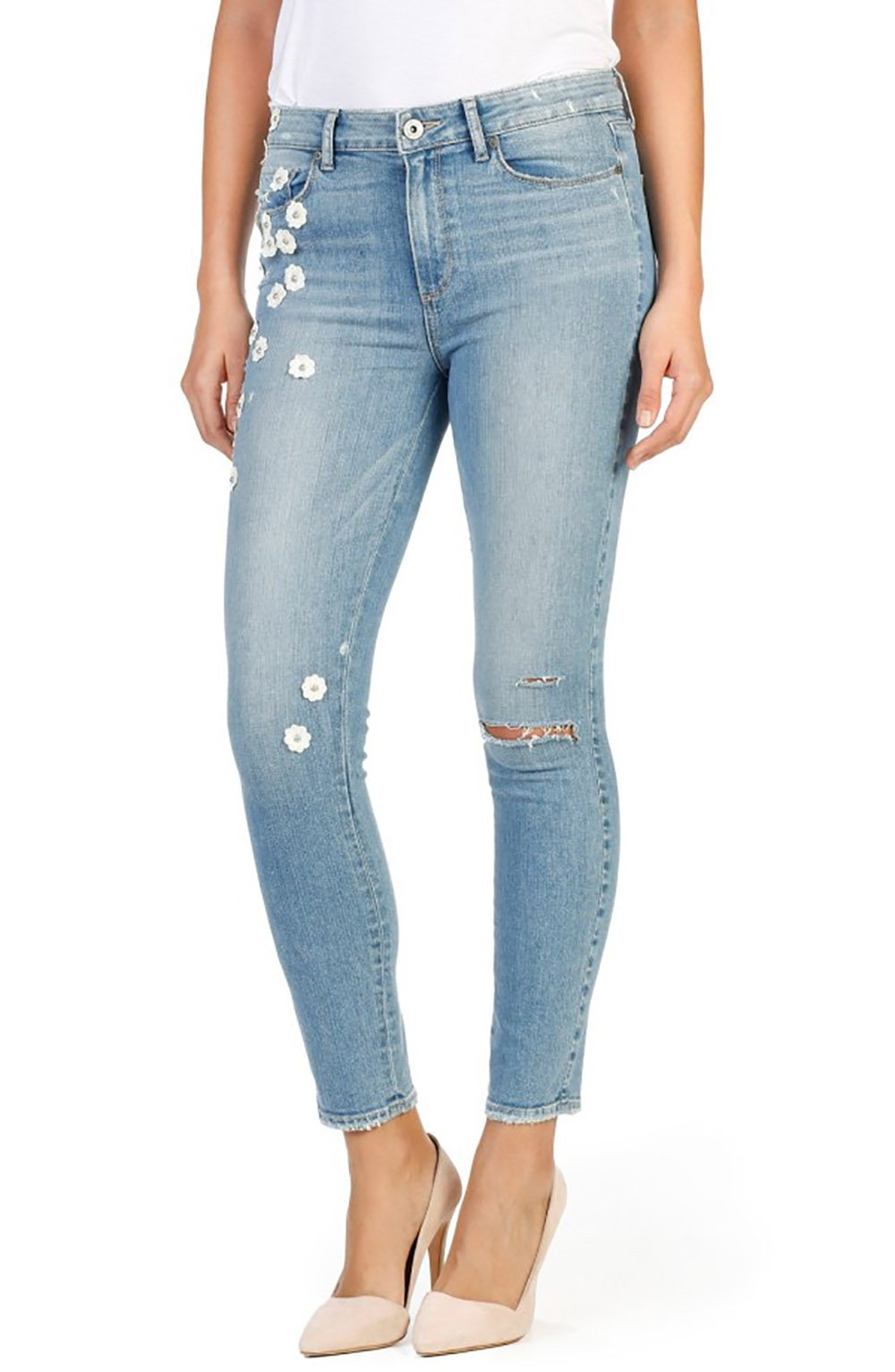Paige Women's Hoxton High Rise Ultra Skinny Jeans (32, Studded)