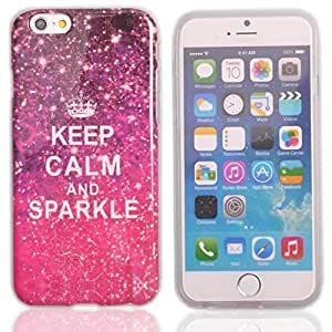 Einzige Colorful Soft Gel Flexible TPU Silicone Skin Case Cover for Apple iPhone 6 (4.7 Inch) (Keep Calm and Sparkle) with Free Universal Screen-stylus