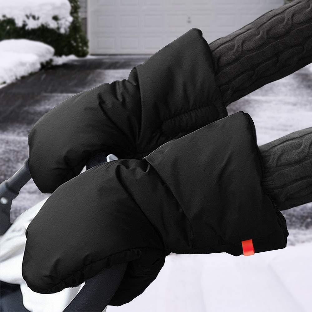 Guantes de Silla de Paseo, otumixx Guantes para cochecito con forro polar Impermeable Caliente a prueba de viento Manoplas para cochecitos coches ...