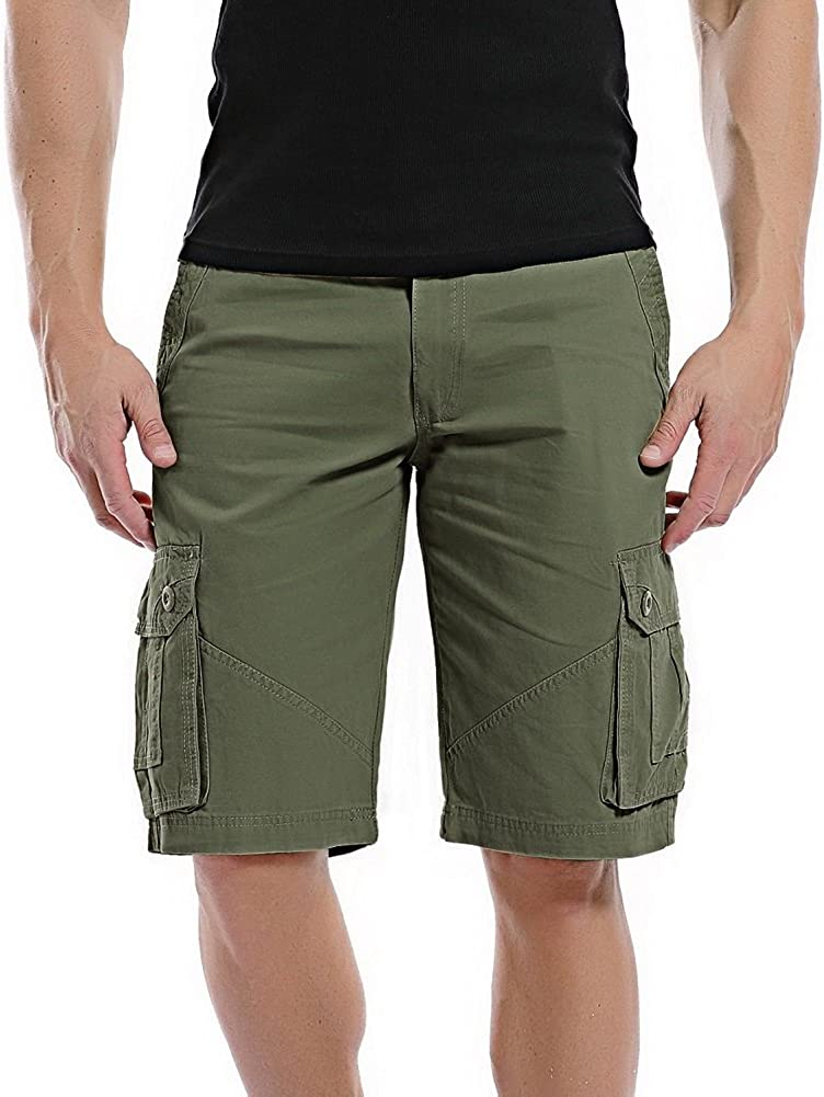 FLYF Cargo Shorts M/änner Kurze Sommerhose Herren Bermuda Shorts Kurz Milit/är Hosen