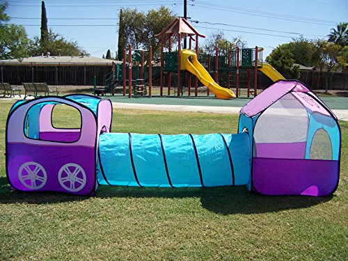 Petra's Girls Butterfly Tunnel Play Tent. Indoor, Outdoor, Play Ground or Room Play Tunnel Hut. Comes with carry Case & One Year Warranty. Kids Play - Hut Leisure