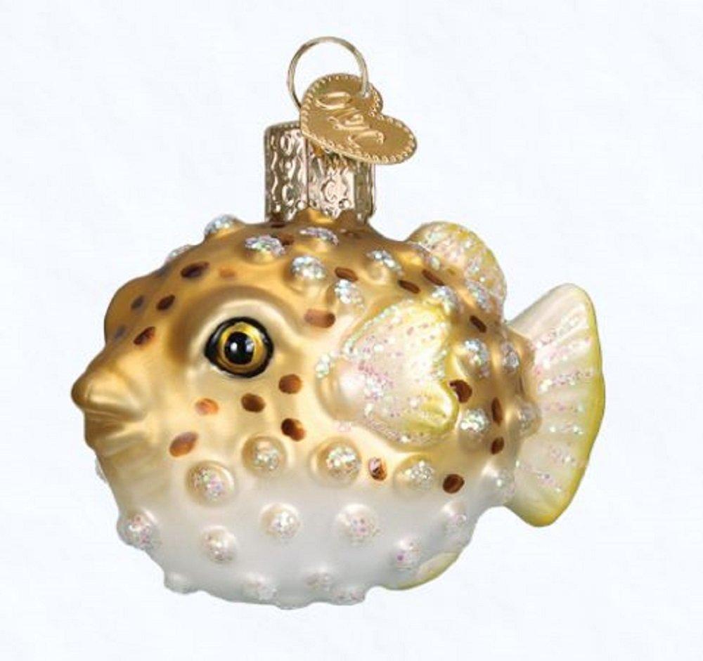 Old World Christmas Pufferfish Glass Blown Ornament