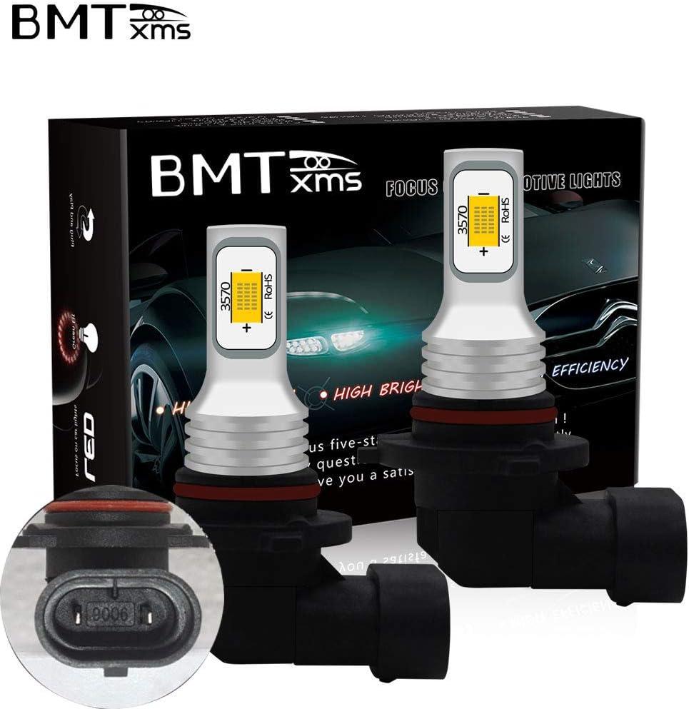 2Pcs H3 2SMD, Crystal Blue Auto Fog Light LED Fog Bulb Foglight DRL Light Led Daytime Running Lights BMTxms Canbus H3 LED Bulb Fog Lights