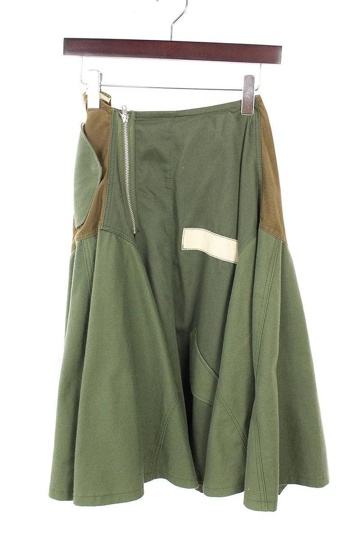 (トリココムデギャルソン) tricot COMME des GARCONS 【13AW】AD2013解体再構築ミリタリーラップスカート(M/グリーン調) 中古 B07FRJD2S1  -