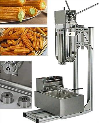 Maquina para hacer y freír churros de estilo español con soporte, capacidad de 5 L