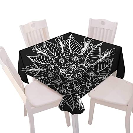 Christmas Tablecloth Hand Drawn Floral Doodle Coloring Pages For
