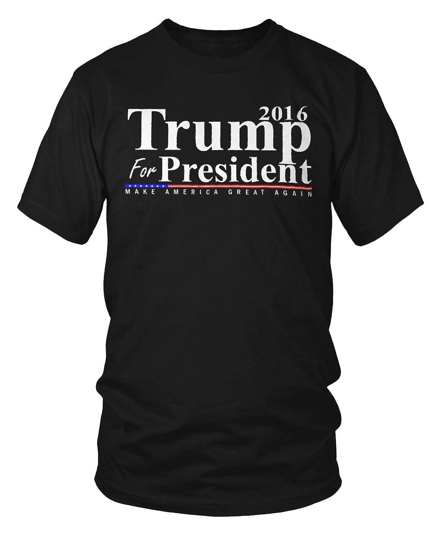 Donald Trump For President 2016 Make America Great Again Flag T-Shirt
