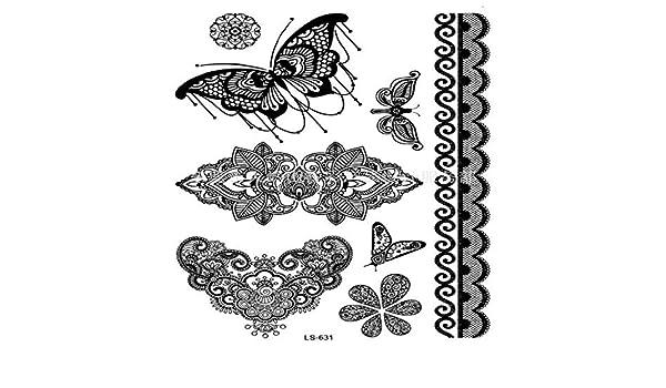 ljmljm 4pcs Impermeable Tatuaje Pegatinas Alas Inglés Carta Tatto ...