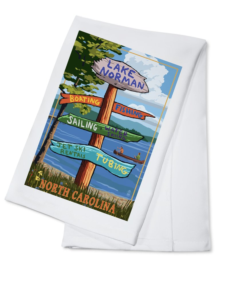 訳あり商品 湖Norman、ノースカロライナ州 Cotton – – Destination Sign Cotton Bag Towel LANT-46969-TL B074RZZYC3 8oz Coffee Bag 8oz Coffee Bag, イキトセレクト:b8c9581a --- martinemoeykens.com
