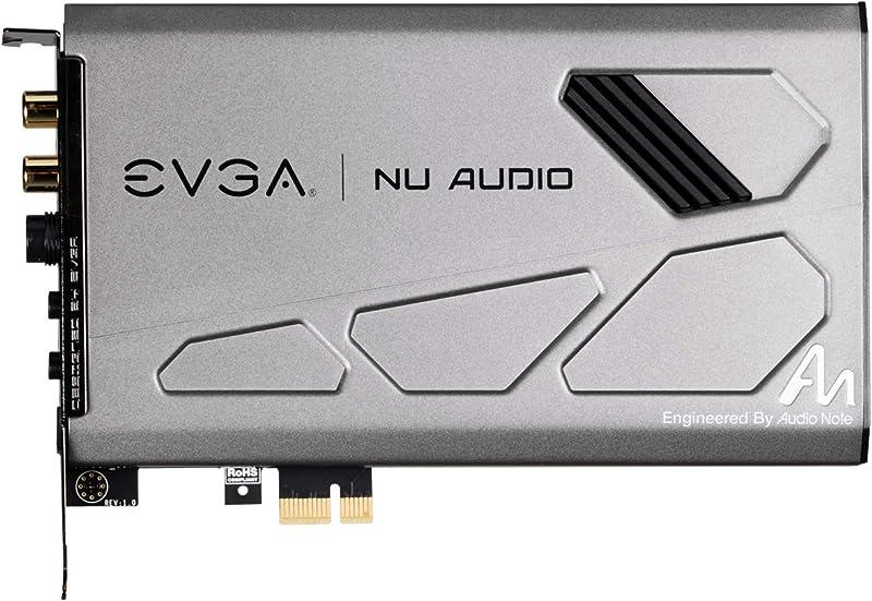 EVGA Nu Audio Card, 712-P1-AN01-KR, Lifelike Audio, PCIe, RGB LED, Designed with Audio Note