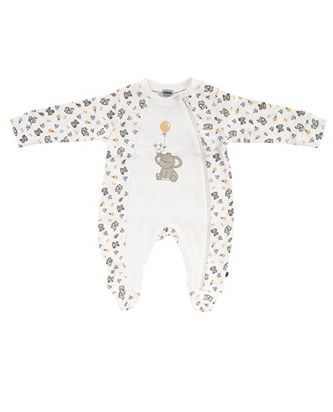 JACKY Pijama Interlock de jersey alloverbedruckt/off-white 12 meses: Amazon.es: Ropa y accesorios