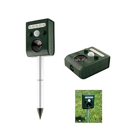 AdraXx Great House Solar Power Ultrasonic Animal Repeller Outdoor PIR Bird Mouse Expeller