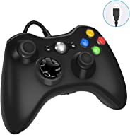 Xbox 360 Wired Game Controller, USB Wired Gamepad Controller for Microsoft Xbox 360, PC Windows 7,8,10 with Dual-Vibration T