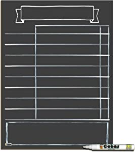Cohas Daily Schedule Planner for Home School or Remote Learning, Solid Non-Magnetic 12 by 16 Inch Chalkboard, Includes 1 White Marker, Blank No Design