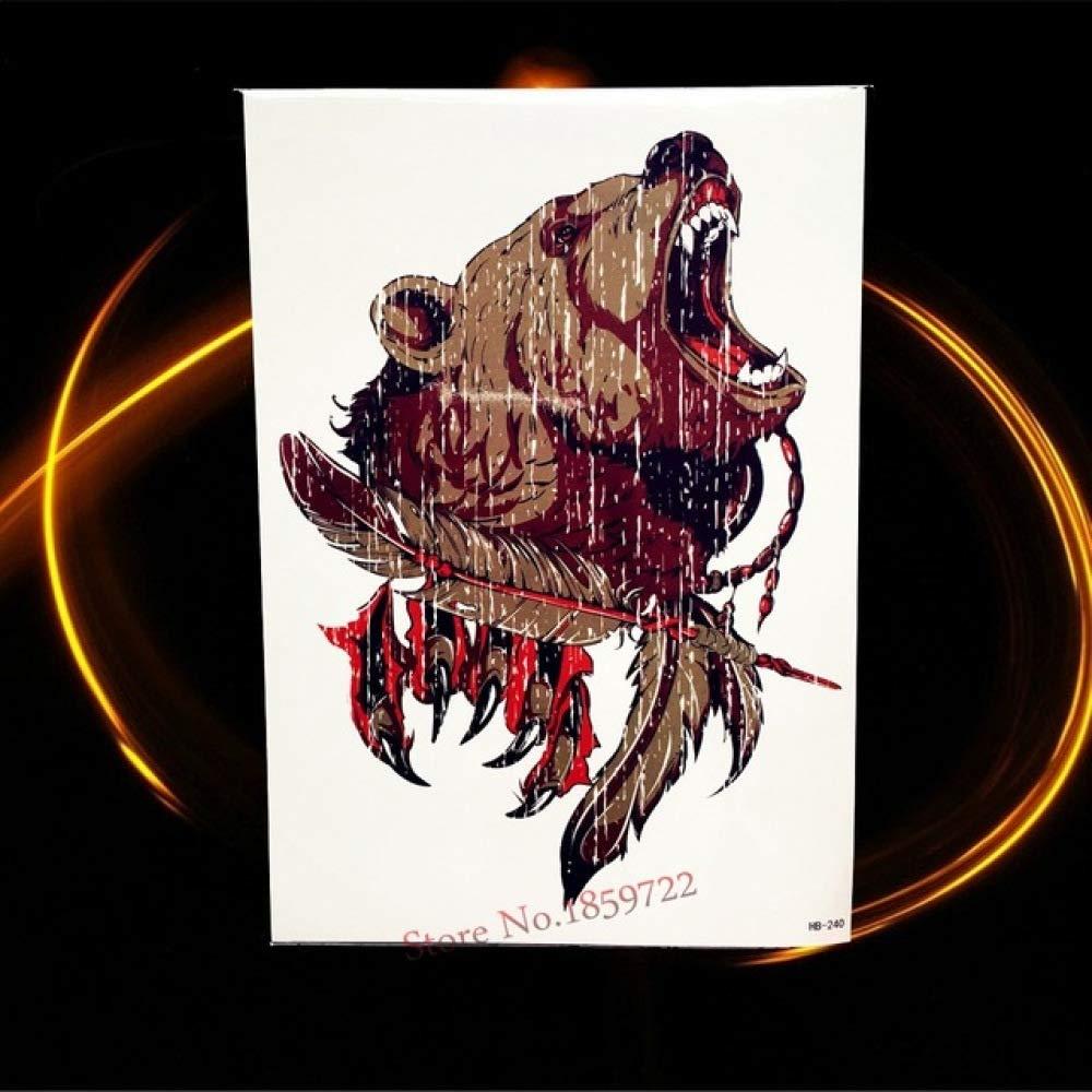 tzxdbh 5Pcs- 3D Cartoon Dragon Waterproof Tattoo Stickers HQS A061 ...