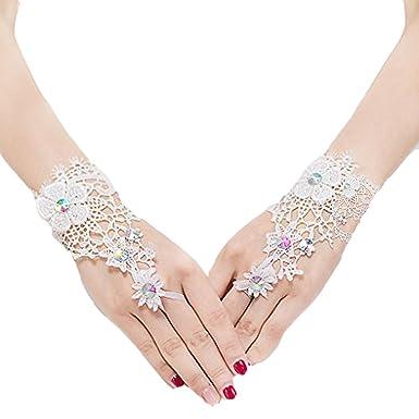 Femme Gants Résille gants Mariage Soirée Gants Gants Mitaines DENTELLE  Gothique Gant Wedding Longue Dentelle Décoration fd425971ef3b
