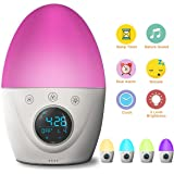 FiveHome Kids Alarm Clock, Wake Up Light Alarm Clock, Color Changing Night Light & Dimmable Warm Light,Dual Alarms, 5 Nature Sounds,Sleep Timer,USB Rechargeable