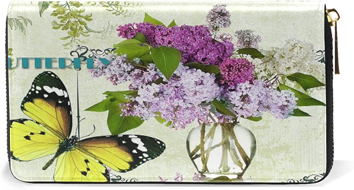 Art Daisy Flowers Blossom Wallet for Women Leather Zipper Phone Coin Purse