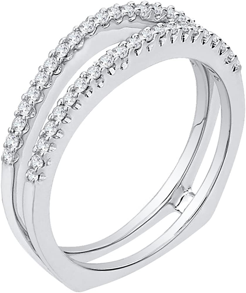 1//6 cttw, Size-11.5 G-H,I2-I3 Diamond Wedding Band in Sterling Silver