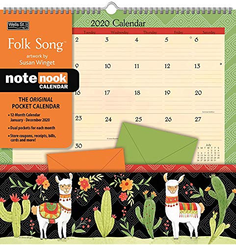 Calendar With Pockets (Folk Song 2020 Pocket Wall)