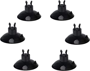 "Pawfly 20 Piece Black Aquarium Suction Cup Clips 3/16"" Airline Tube Holders Hose Clamps for Fish Tank"