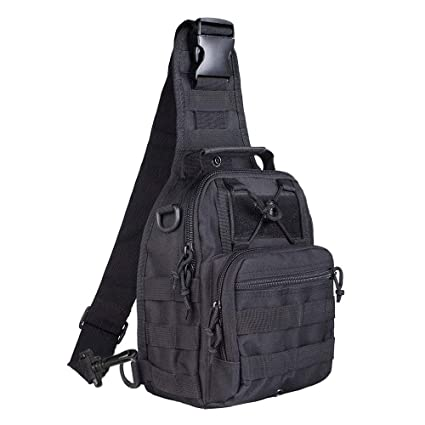 Amazon.com   BeGrit Tactical Shoulder Bag Sling Chest Pack Outdoor Sports  Backpack Multi-Purpose Daypack for Riding Camping Trekking Hiking Hunting    Sports ...