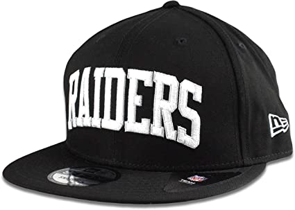 Image Unavailable. Image not available for. Color  New Era Oakland Raiders  Hat NFL Black White Arched Script 9FIFTY Snapback Adjustable Cap ... 45b2ac4afb39