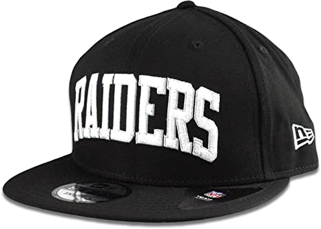 san francisco c91f7 2bdbf Image Unavailable. Image not available for. Color  New Era Oakland Raiders  Hat NFL Black White Arched Script 9FIFTY ...