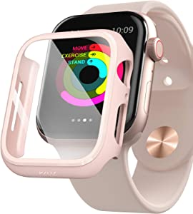 PZOZ Watch Case Compatible Apple Watch Series 5 / Series 4 40mm with HD Tempered Glass Screen Protector Accessories Matte Hard Bumper Cover Defense for Women Men iWatch (Pink)