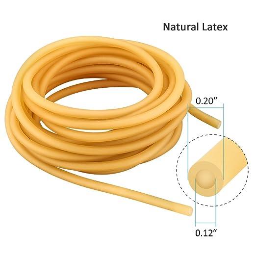 Manguera de Goma, Banda Elástica de Látex Natural para Hondas, Tirachinas, Caza, al Aire Libre y como Tubo Quirúrgico (partes 3 m/5 m/10 m): Amazon.es: ...