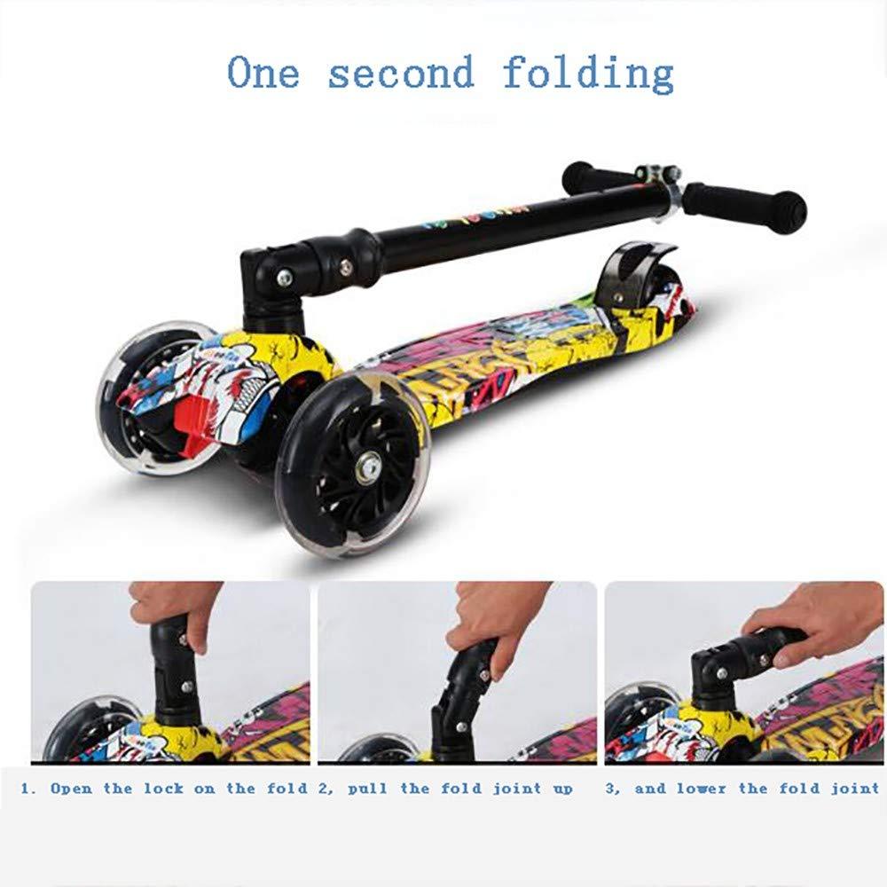 Amazon.com: GAOJIN - Patinete de 3 ruedas, plegable, con ...