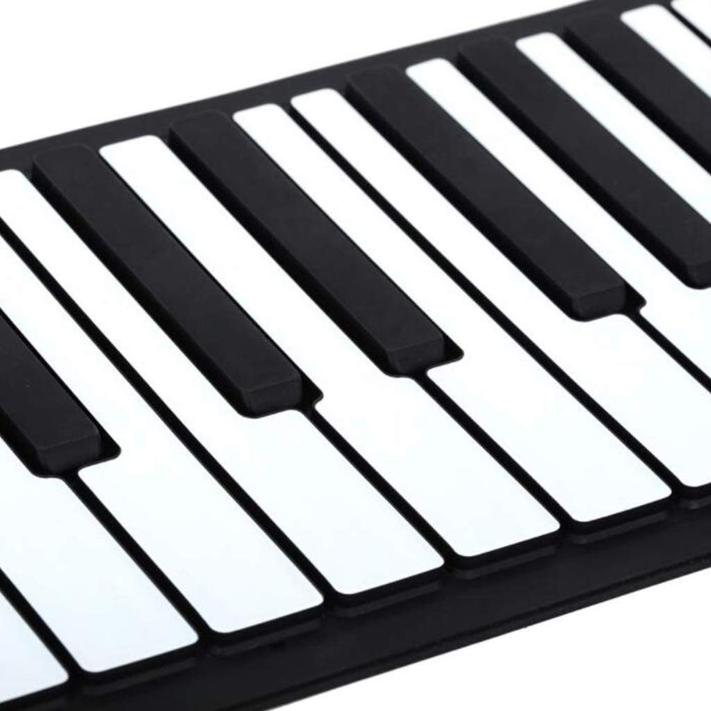New Foldable Piano Portable Piano 88 Keys Roll Up Piano Keyboard Silicone Flexible Keyboard Foldable Sustain Pedal Rechargeable 1000Ma Lithium Battery,Black by Anyer Piano (Image #6)