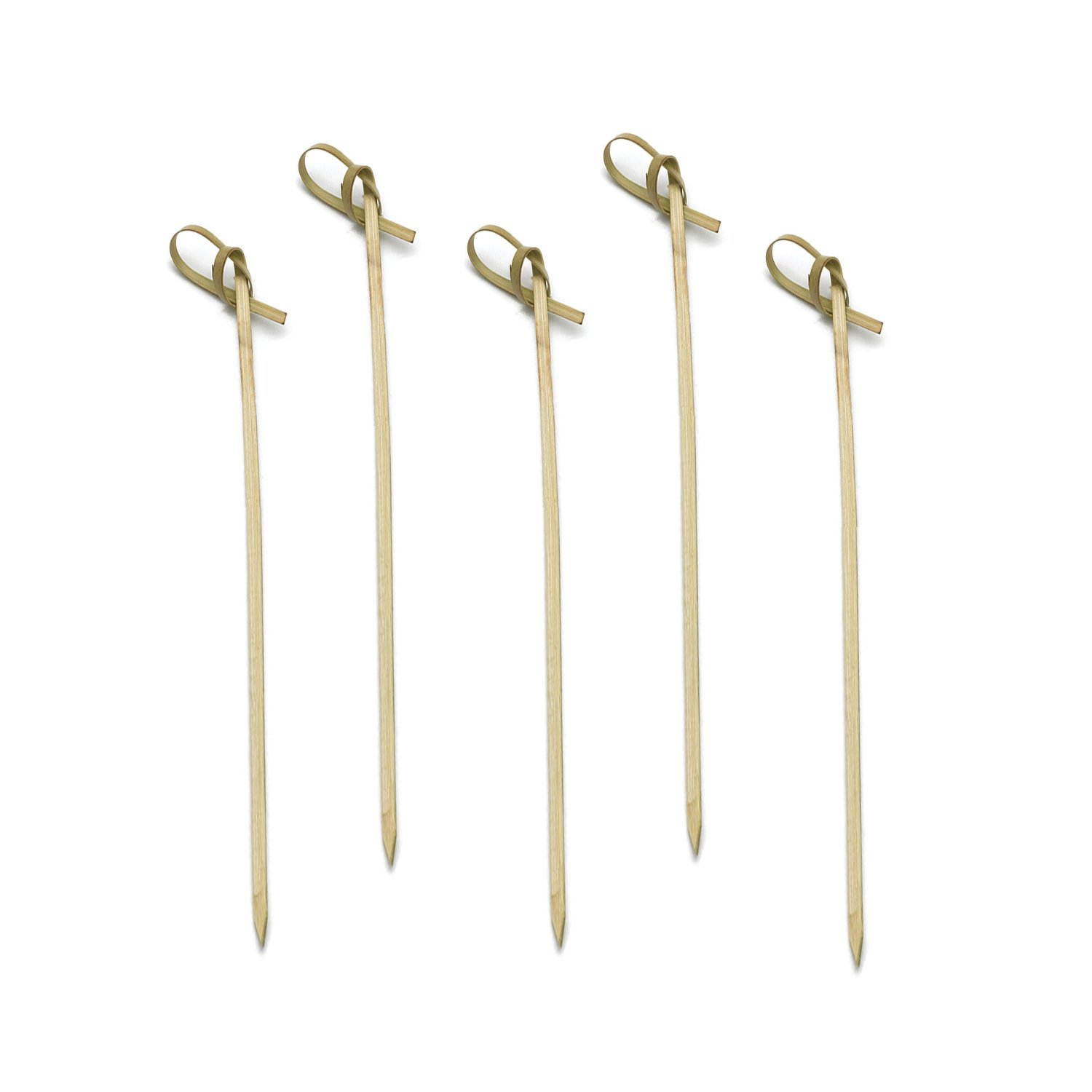 Party Essentials N438968 Compostable Bamboo Knot Picks, 7'', Green, 10 Packs of 100 (Pack of 1000)