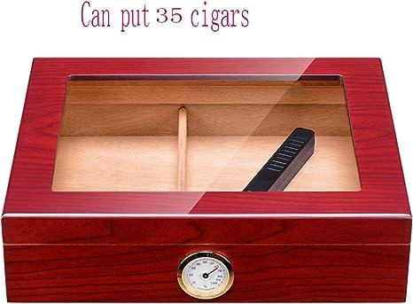 CZZ Caja de Cigarrillos, Caja de Cigarros Hidratante, Humidor de Cigarros de Madera de Cedro, Caja de Cigarros con Pintura de Piano,A,Caja de cigarri: Amazon.es: Deportes y aire libre