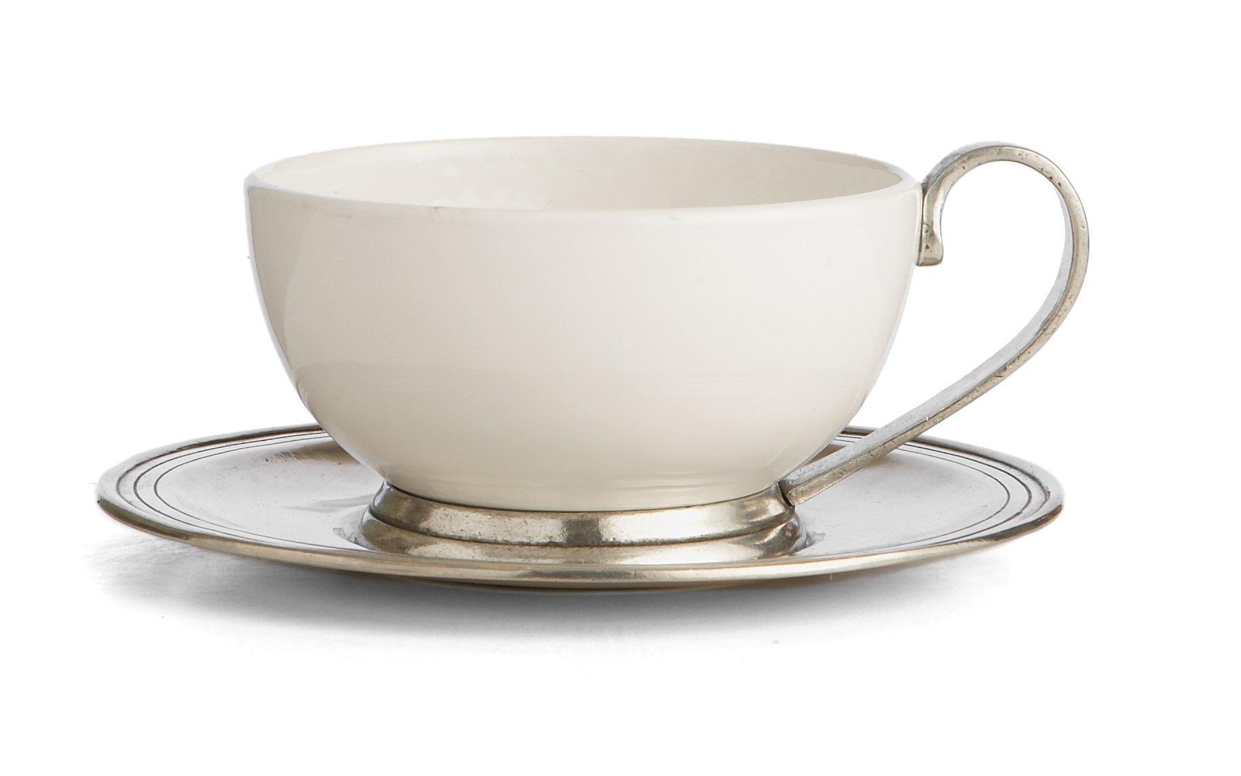 Arte Italica Tuscan Cup & Saucer, White