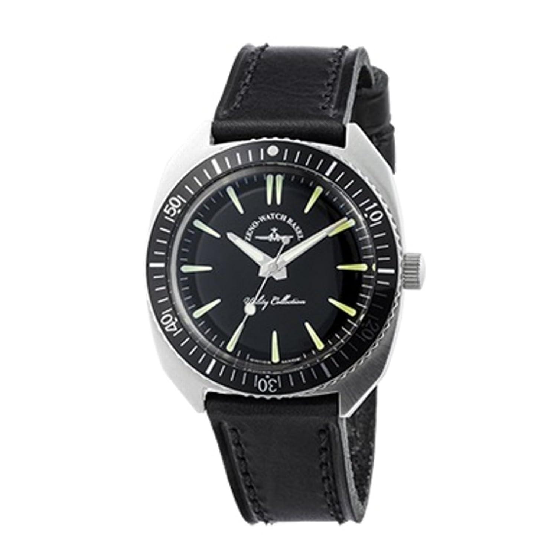 [ゼノウォッチ]ZENO WATCH 腕時計 クオーツ ZN102-SB-LBK 逆回転防止ベゼル搭載 日本限定版モデル【正規輸入品】 メーカー保証1年 B0727ZBNLV