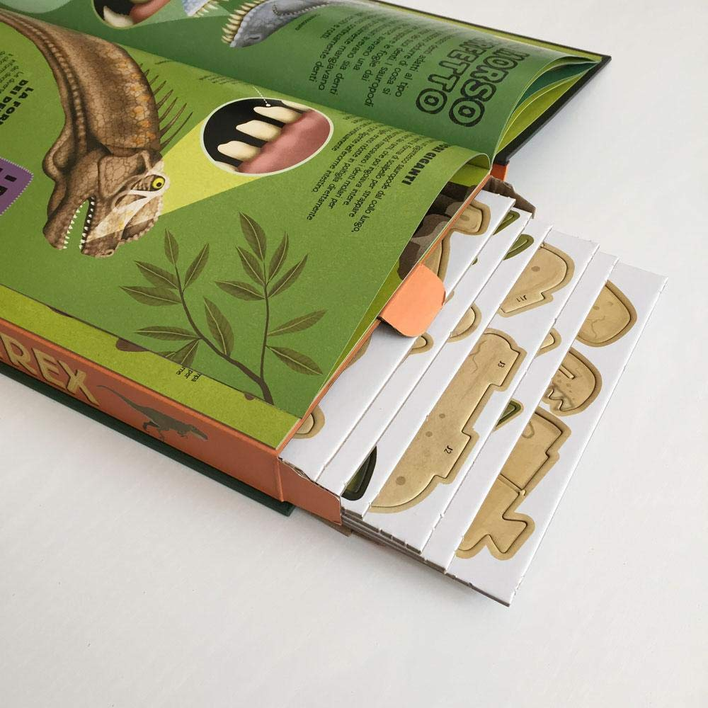 Camera da Letto Fermalibri a Forma di Dinosauro per Studenti in Acciaio di qualit/à Libri Biblioteca CD Ottima Decorazione per casa Video PandS T-Rex riviste Libri