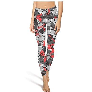 a4946a04d1d10a PLOKINC Cute Yoga Pants for Womens Capri Leggings Camouflage Hexagon Pattern  3D High Waist Gym Tights