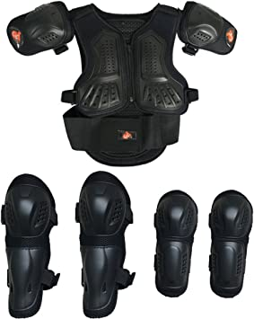1 Set Motorcycle Riding Body Built-in Protective Gear Shoulder Elbow Guards