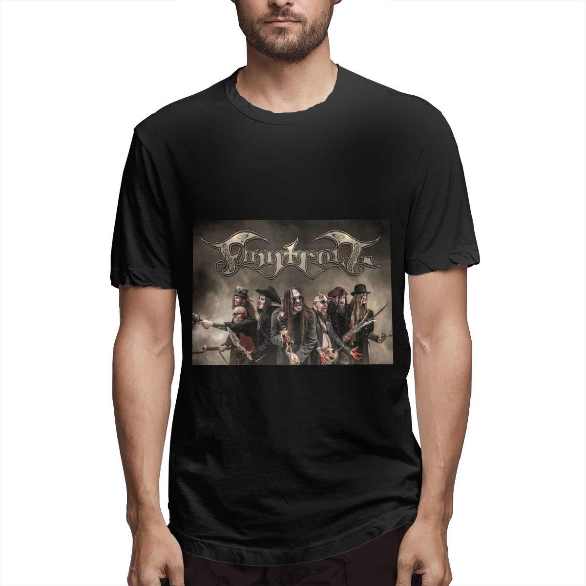 Lihehen Man Finntroll Simple Casual Round Neck Tees Shirts