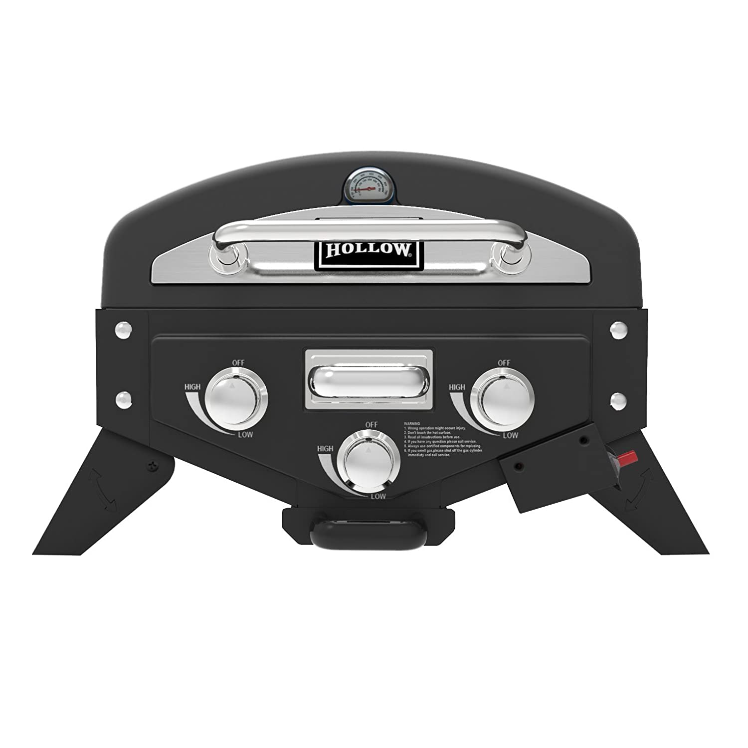 Smoke Hollow VT280SS1 Vector 3-Burner Tabletop Propane Gas Grill with Smoke Tray - best tailgate grill