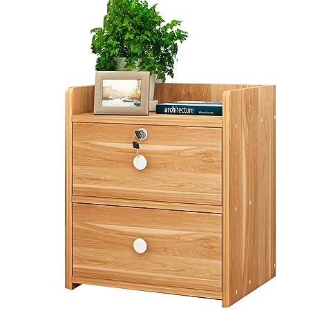 Amazon.com: Estanterías de madera maciza con cerradura para ...