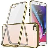 iphone6ケース透明TPU 防塵 指紋防止 ソフト クリア メッキ加工 耐衝撃 最軽量 超薄型 一体型 人気 ケース ゴールド