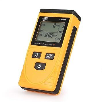 GM3120 Digital LCD Detector de radiación electromagnética Portable EMF Meter Dosímetro Herramienta para computadora teléfono móvil: Amazon.es: Electrónica