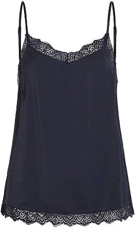TALLA S. Vila Vicava Lace Singlet-Noos Camiseta sin Mangas para Mujer