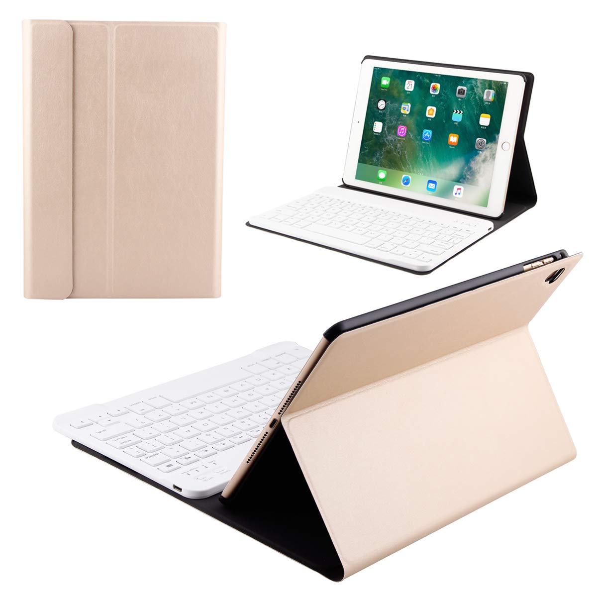 安価 Happon iPad Pro ケース 10.5インチ 2017 キーボード ケース ゴールド スリム キーボード 軽量 スタンドカバー 磁気で取り外し可能 ワイヤレス キーボード iPad Pro 10.5インチ 2017に対応 0034-Q5-756 ゴールド B07KWHWTKH, Hokkaido Made ホッカイドウメイド:fa9330fb --- a0267596.xsph.ru