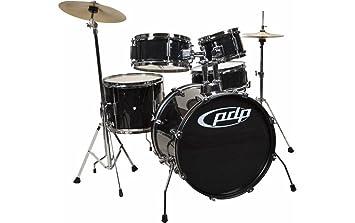 Amazon Com Pacific Drums Pdjr18ktcb Pdp Junior 5 Piece Drum Set