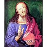 """The Museum Outlet - Salvator Mundi by Durer, Stretched Canvas Gallery Wrapped. 11.7x16.5"""""""