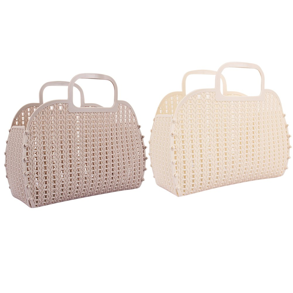 delicate Ibnotuiy 2Pcs Plastic Foldable Hollow Shower Caddy Portable ...